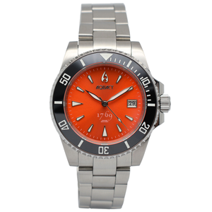 Aquacy 1769 Hei Matau Men's Automatic 300M Orange Dive Watch 1769.O.B.S