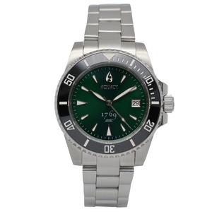 Aquacy 1769 Hei Matau Men's Automatic 300M Green Dive Watch Miyota 9015 1769.GR.B.S