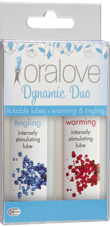 Oralove Dynamic Duo Lickable Lubes - Warming & Tingling - Leather & Spank