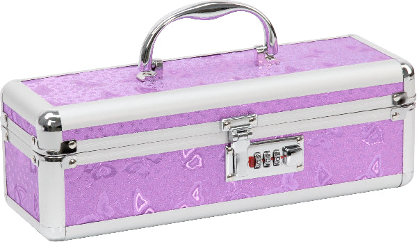 Lockable Medium Vibrator Case Purple