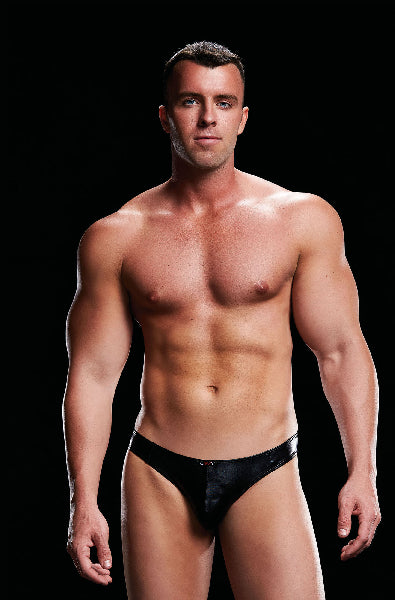 Low Rise Thong Black