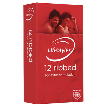 LifeStyles Ribbed 12