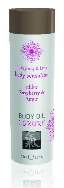 Shiatsu Luxury Body Oil Edible Raspberry & Apple