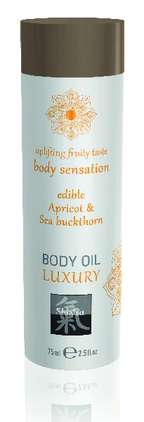 Shiatsu Luxury Body Oil Edible Apricot & Sea Buckthorn