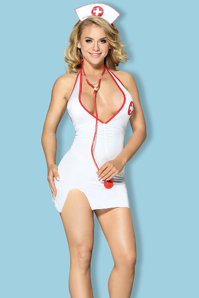 Nurse Costume 3 Pc w/ Stethoscope White