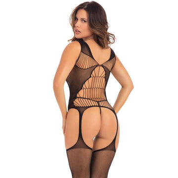 Flight Risk Sheer Bodystocking Black