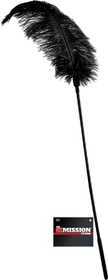 Feather Stick Whip (Black)