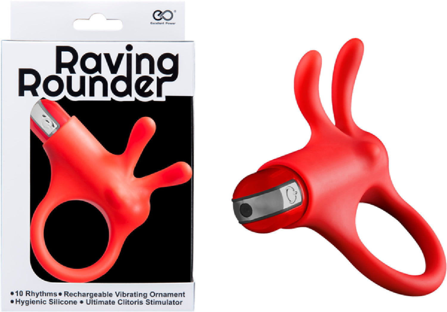 Raving Rounder Cockring (Red)