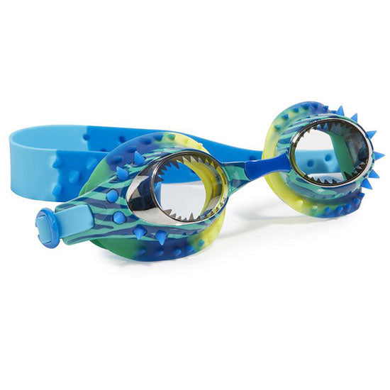 Bling20 Prehistoric Times Dino-Mite Blue Swim Goggles