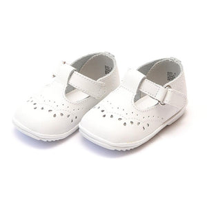 Angel Mary Jane White Leather Shoes