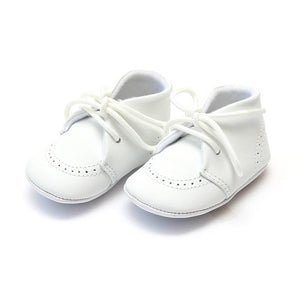 Angel White Leather Oxford Baby Shoes