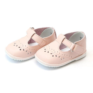 Angel T-Strap Lt Pink Leather Shoes