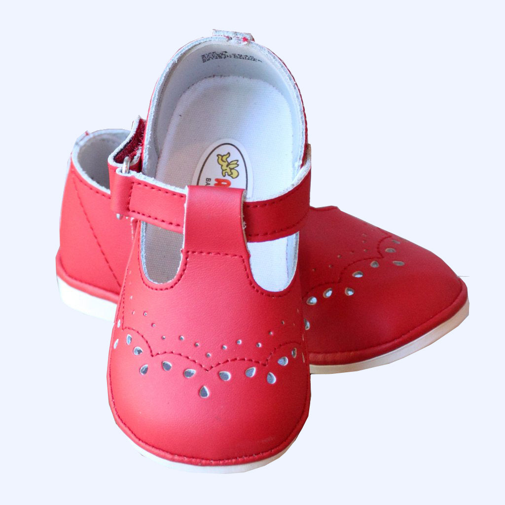 Red Mary Jane Angel Baby Shoes
