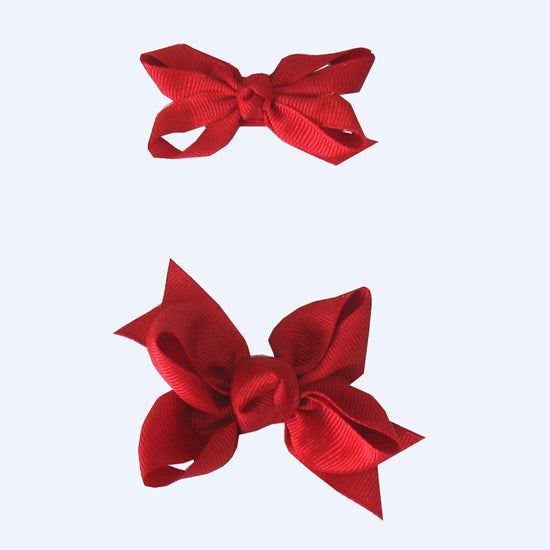 Red Grosgrain Bows