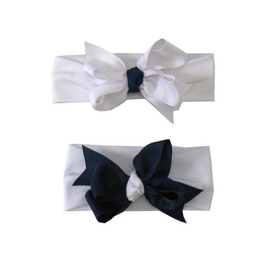 Buds & Bows Royal and White Soft Headband