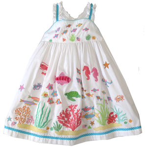 Cotton Kids Ocean Fish Dress - SPECIAL ORDER