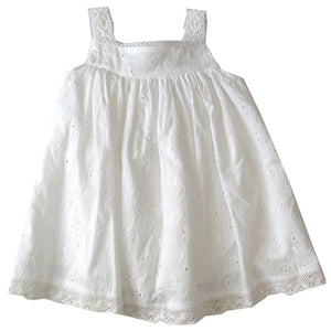 Cotton Kids White Embroidered Eyelet Dress