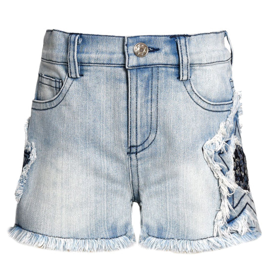 Sara Sara Denim Start Shorts
