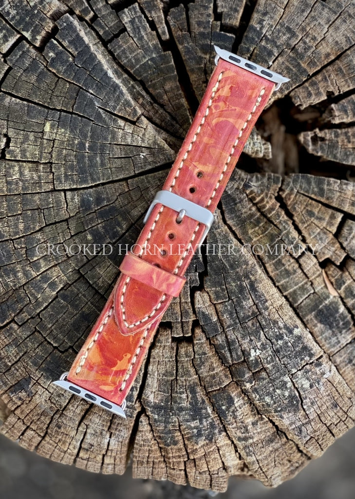 42Mm Tie-Dyed Leather Apple Watch Band