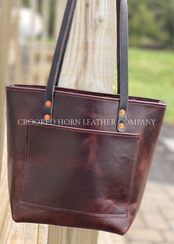 Chocolate Leather Everyday Tote