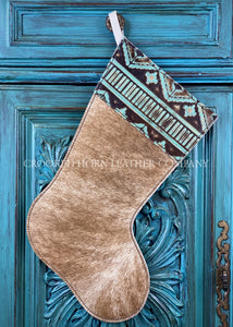 Cowhide And Leather Christmas Stocking #11