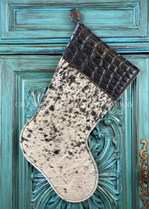 Cowhide And Leather Christmas Stocking #23