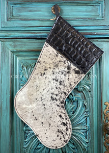 Cowhide And Leather Christmas Stocking #24