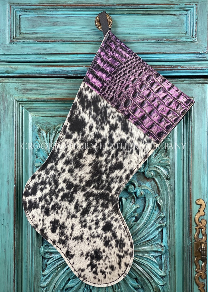 Cowhide And Leather Christmas Stocking #25