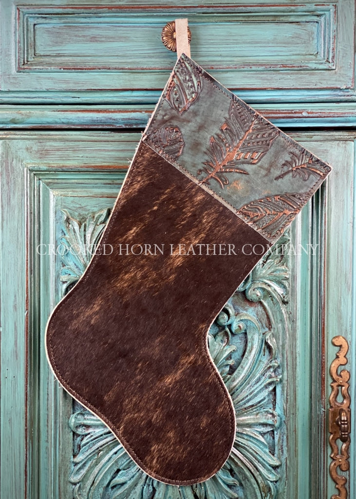 Cowhide And Leather Christmas Stocking #28