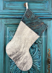 Cowhide And Leather Christmas Stocking #30