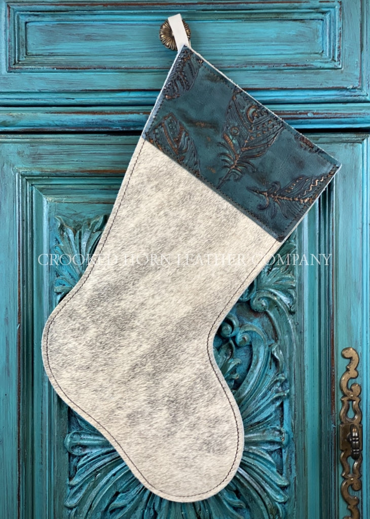 Cowhide And Leather Christmas Stocking #31