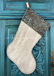 Cowhide And Leather Christmas Stocking #33