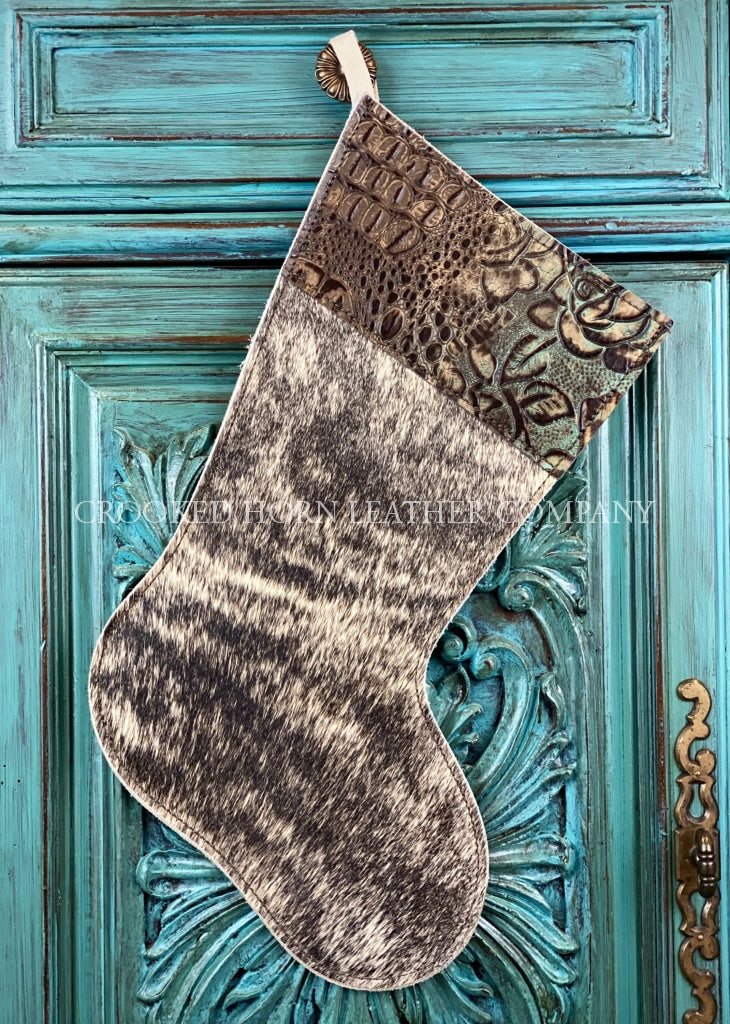 Cowhide And Leather Christmas Stocking #38