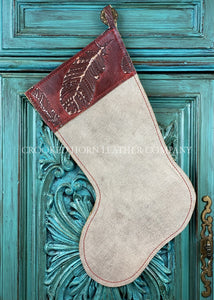 Cowhide And Leather Christmas Stocking #40