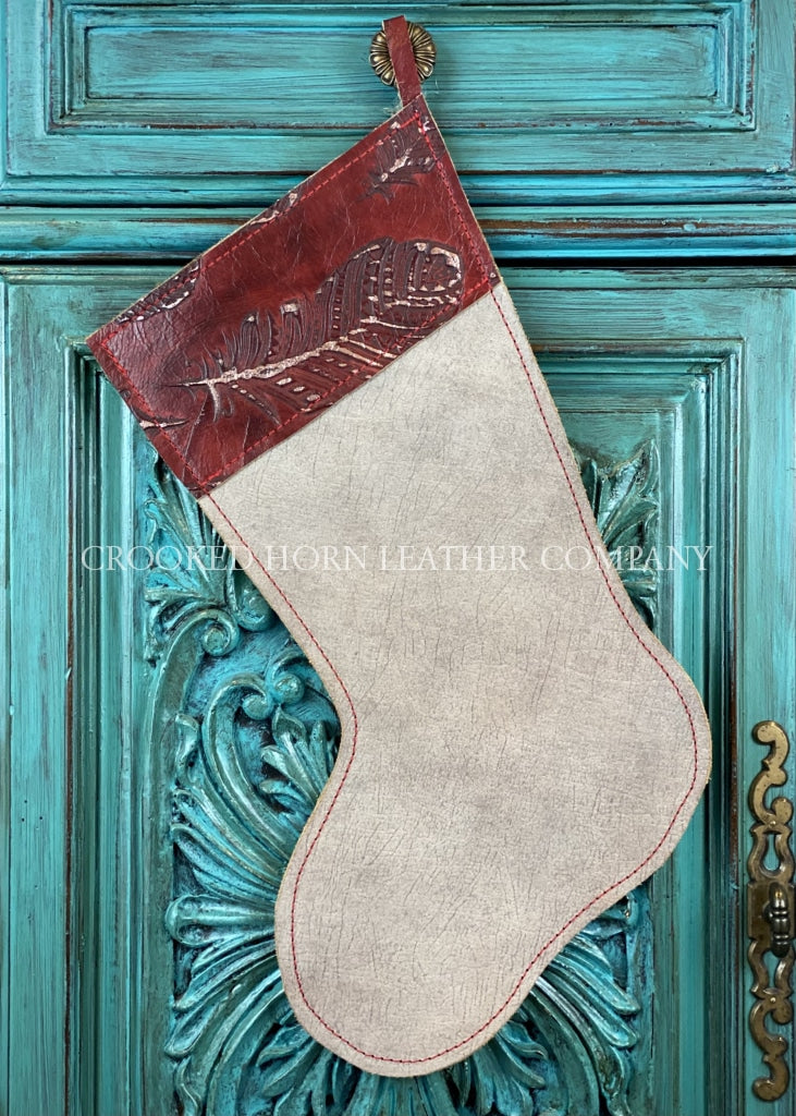 Cowhide And Leather Christmas Stocking #41