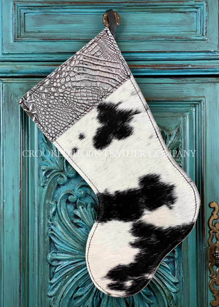 Cowhide And Leather Christmas Stocking #42