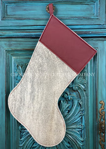 Cowhide And Leather Christmas Stocking #7