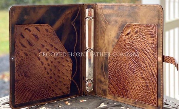 Custom 1 Three Ring Leather Binder