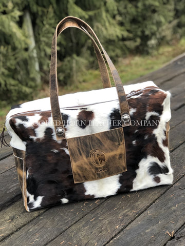 Custom Leather And Cowhide Carry-On Duffle Bag
