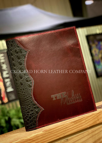 Custom Leather Planner Cover Western