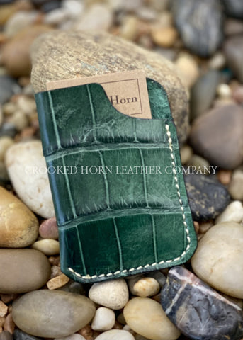 Evergreen American Alligator Front Pocket Wallet