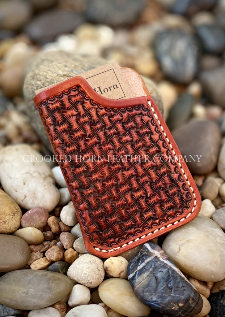 Hand-Tooled Front Pocket Wallet