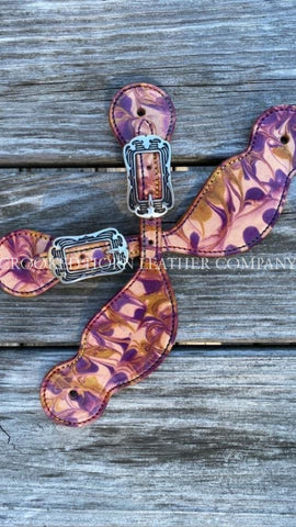 Hippies And Cowboys Tie-Dye Spur Straps