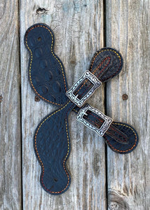 Black Spur Straps with Jeremiah Watt Buckles