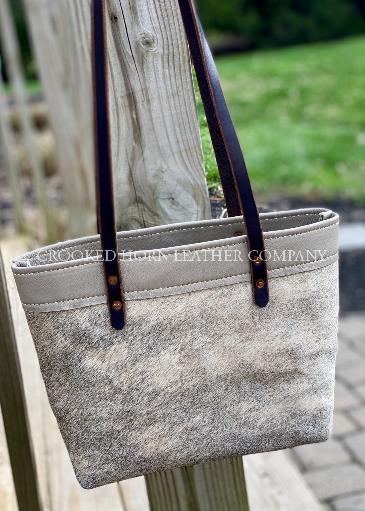 Light Brindle And Taupe Everyday Tote Cowhide Leather