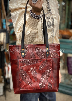 Red Feathers Everyday Tote