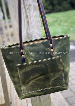 Sage Green Leather Everyday Tote