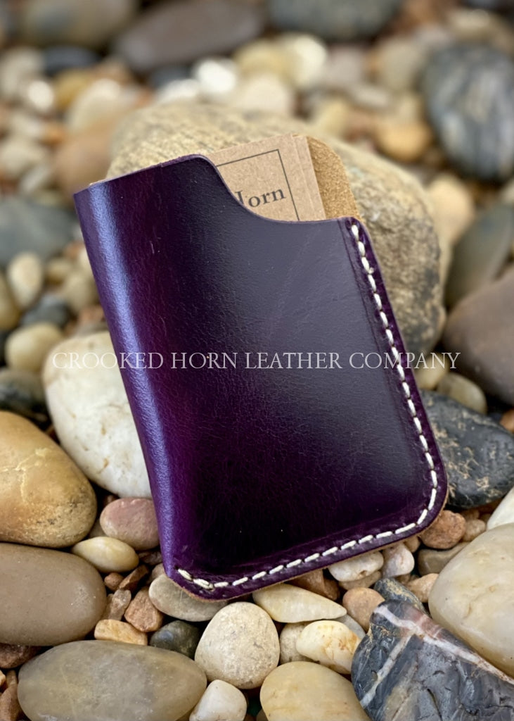 Simple Leather Card Sleeve