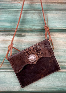 The Canyon Diablo Cross-Body In Chocolate Croc Leather Purse