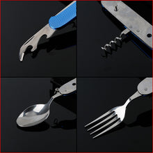 Load image into Gallery viewer, Multifunctional 6 in 1 Stainless Steel Camping Utensil